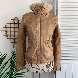 Zara Trafaluc Bomber Jacket quilted vegan leather